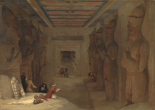 The Hypostyle Hall of the Great Temple at Abu Simbel, Egypt (1849)