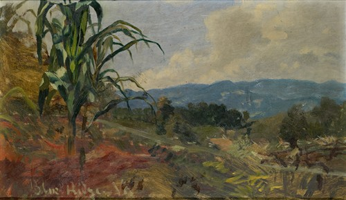 Landscape with Giant Corn in the Foreground (1870)