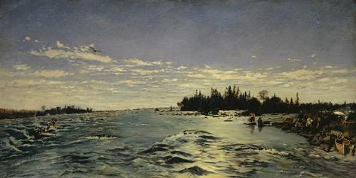 The Rapids of Saint Marys River (1868)