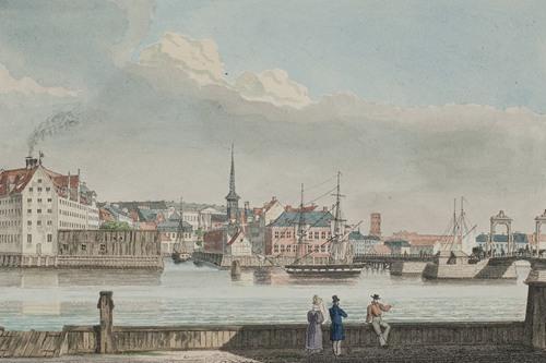 København set fra Christianshavn (1825 - 1826)