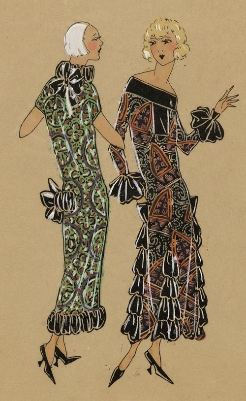 FRIVOLES.- Charmante idées que ces deux toilettes… (1923)