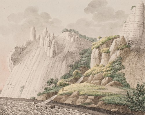 Den del af Møns kridtbjerge, som man kalder Sommerspiret taget fra strandbredden (1802 - 1803)