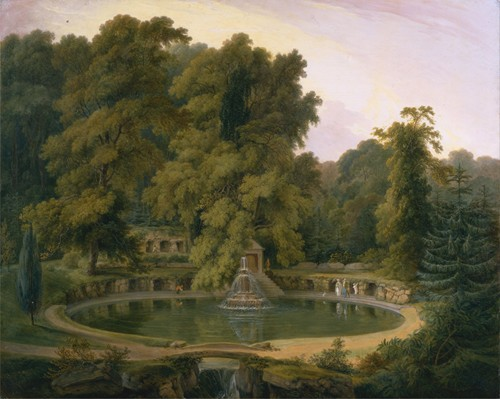 Temple, Fountain and Cave in Sezincote Park