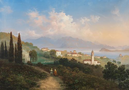 A View of Lake Como and Menaggio, with Punta di Bellagio on the Right (1847)