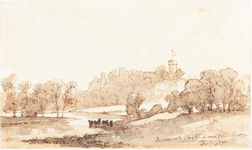 Warwick Castle from the Avon (1837)