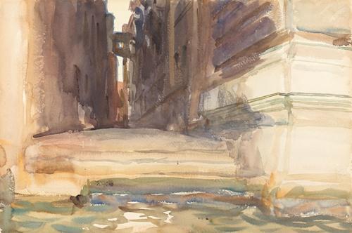 The Calle della Rosa with the Monte di Pietà,Venice (c. 1904)