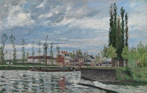 The Lock at Pontoise (1872)