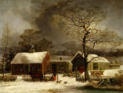Winter Scene in New Haven, Connecticut (ca. 1858)