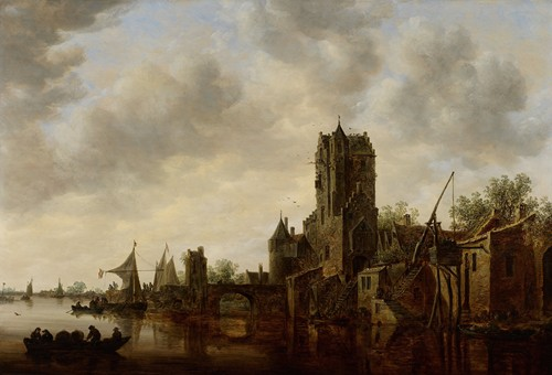 River Landscape with the Pellecussen Gate near Utrecht (1648)