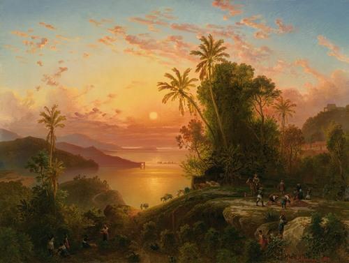Costa De La Guaira A La Caida Del Sol (1874)