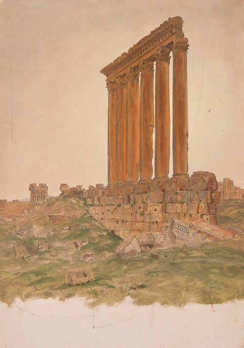Ruins of the Temple of Zeus, Baalbek (1868)