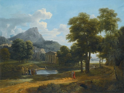 A Mountainous Landscape, With A View Of Pheneos And The Temple Of Minerva Caphyes
