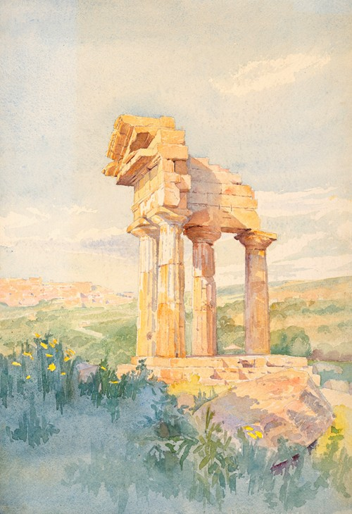 Temple of Castor and Pollux, Sicily (1903)