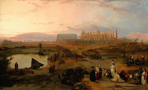 Ruins of the great temple at Karnak, sunset (1845)