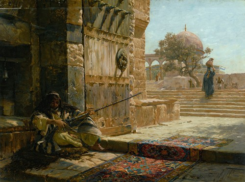 Sentinel At The Entrance To The Temple Mount, Jerusalem (1883)