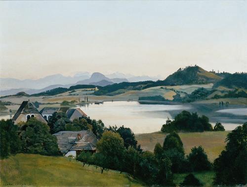 Kärntner Landschaft (Kraiger-See mit Ulrichsberg) (1920)