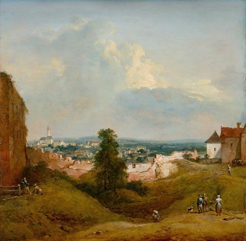 Aussicht von der Albrechtsburg in Klosterneuburg (1787)