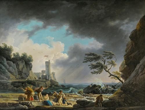 A Storm Near A Rocky Coast (1784)