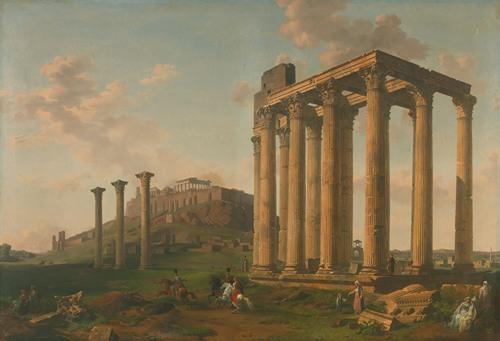 Vue Du Temple De Jupiter Et De L'acropole (1804)