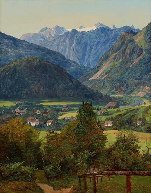 Der Dachstein vom Sophien-Doppelblick bei Ischl (1835)
