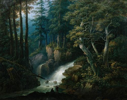 Der Wasserfall der Ilse auf dem Brocken im Harzgebirge (1830)