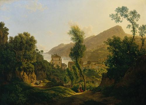Ansicht der Stadt Vietri mit Blick auf den Meerbusen von Salerno (1819)