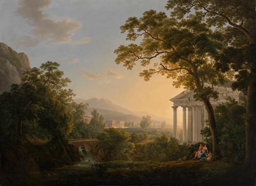 Ideale Landschaft mit Tempelgebäuden (1808)