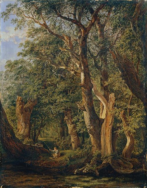 Partie aus dem Prater mit fischenden Knaben (1831)
