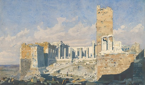 The Acropolis from the West, with the Propylaea and the Temple of Athena Nike, Athens (1834)