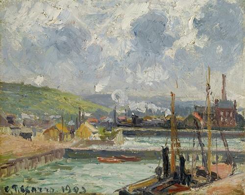 Darse De Pêche Et Bassin Duquesne, Dieppe, Temps Gris Lumineux (1902)