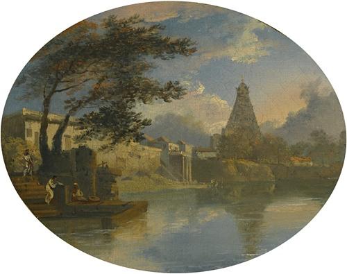 View Of Thanjavur, India, With The Brihadeeswarar Temple