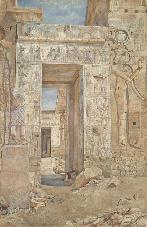 Temple on the Island of Philae (ca. 1900)