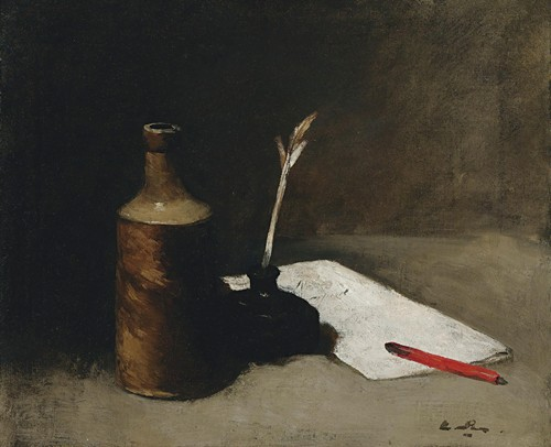 Still Life With Bottle, Inkpot And Letter