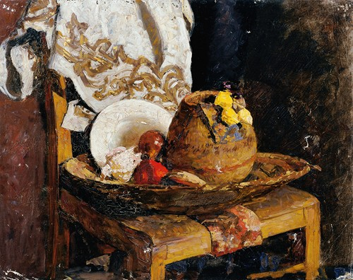 Stillleben mit krug und früchten (1895)