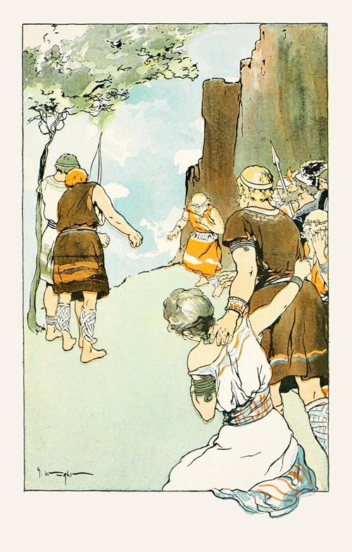 The little sprig of mistletoe pierced the heart of Balder (1901)