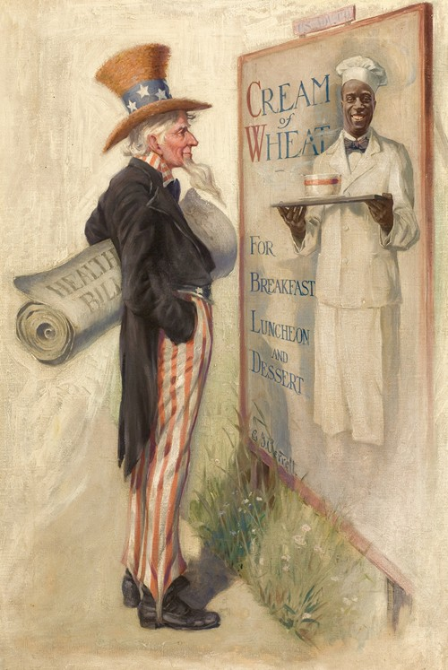 Well, You're Helping Some, Cream of Wheat ad illustration (1915)