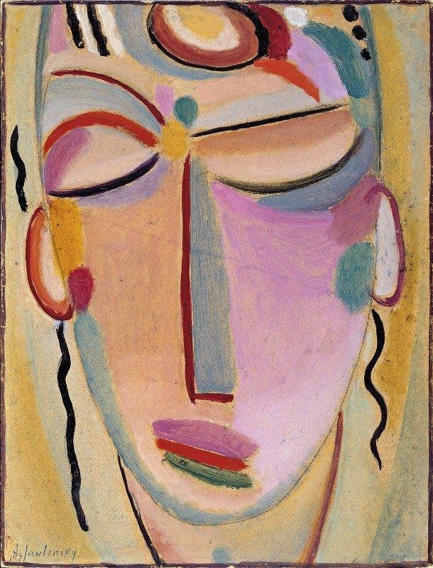 Alexej von Jawlensky - Mystical head, Meditation