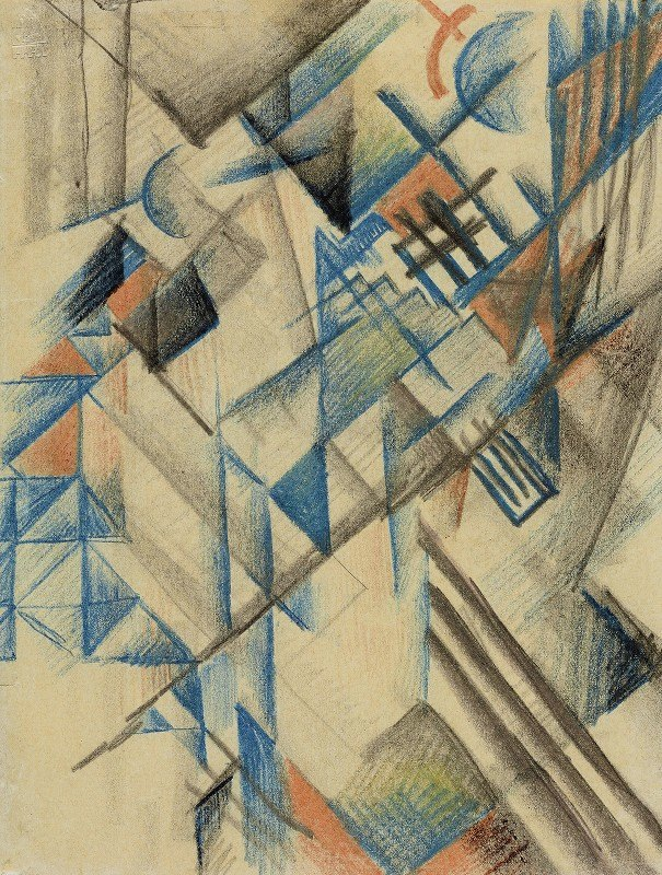August Macke - Abstrakte Formen II