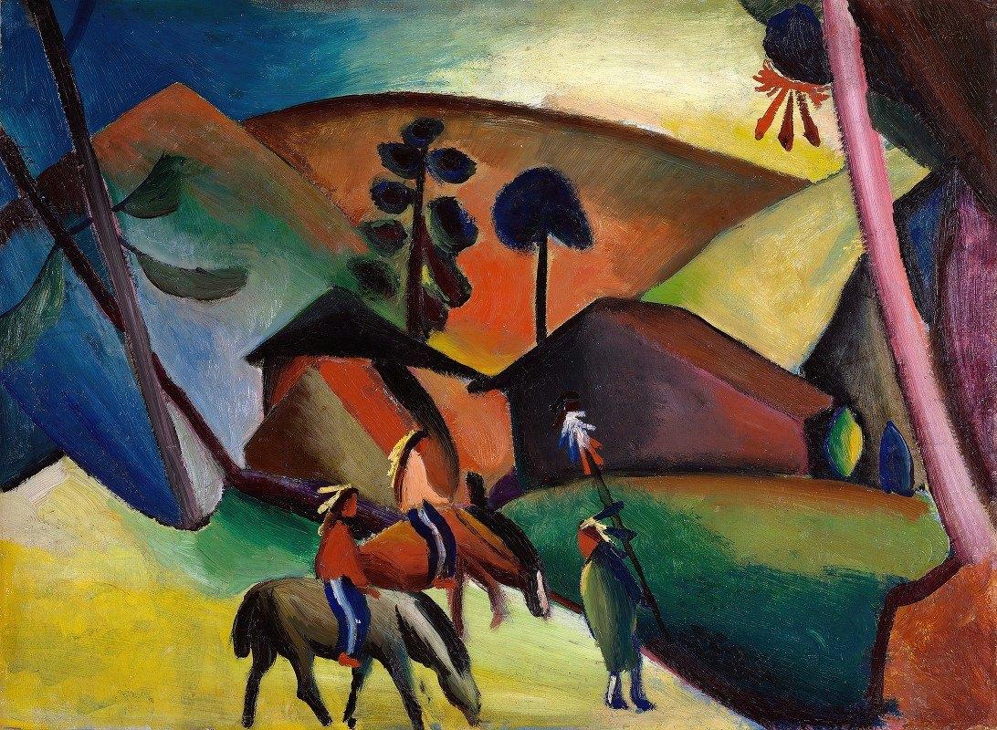 August Macke - Indians on Horses