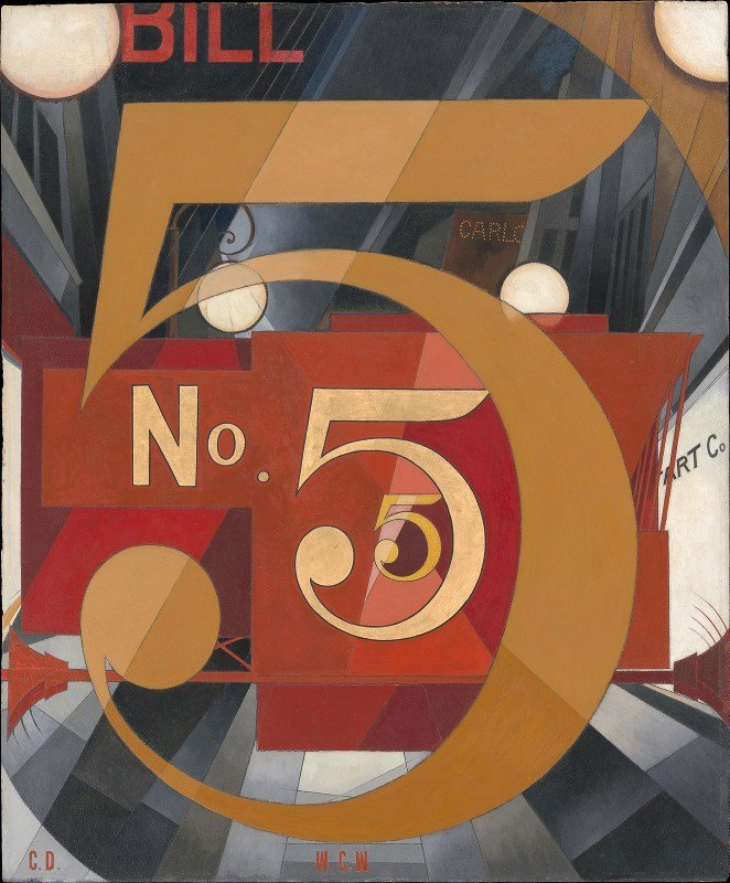 Charles Demuth - I Saw the Figure 5 in Gold