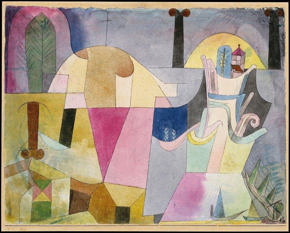 Paul Klee - Black Columns in a Landscape