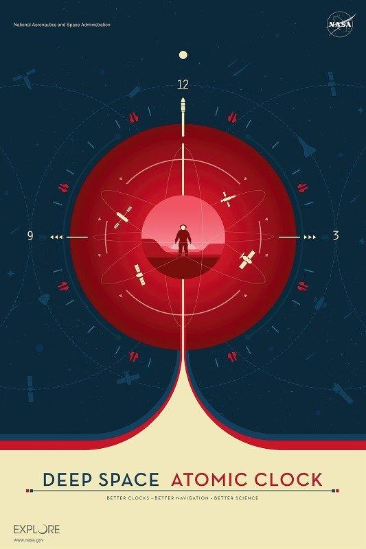 NASA - Deep Space Atomic Clock Red