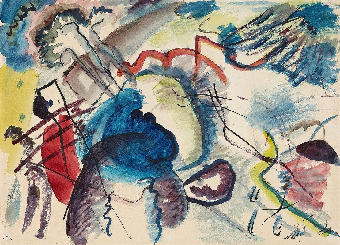 Wassily Kandinsky - Draft for 'Picture with a white border'