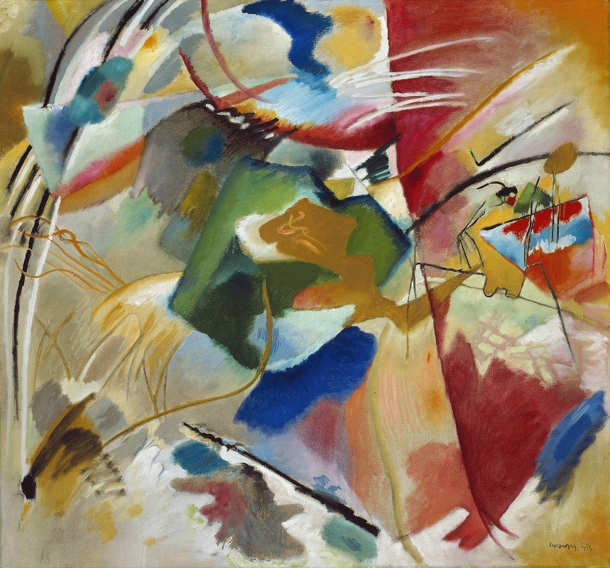 Wassily Kandinsky - Painting with Green Center