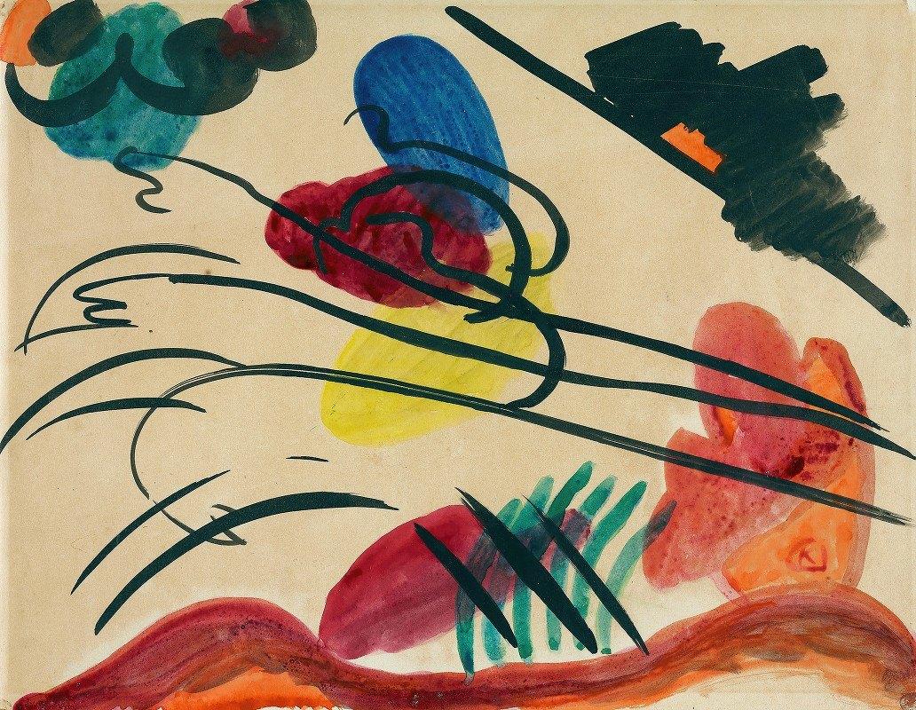 Wassily Kandinsky - With three riders