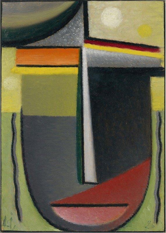Alexej von Jawlensky - Abstract Head, Inner Vision Green-Gold
