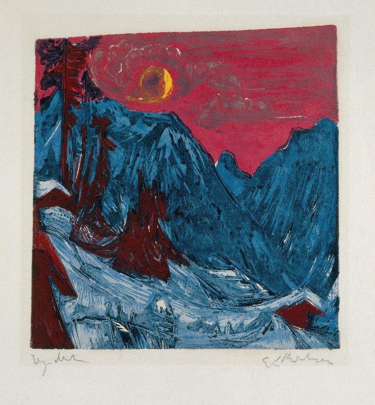 Ernst Ludwig Kirchner - Winter Landscape in Moonlight