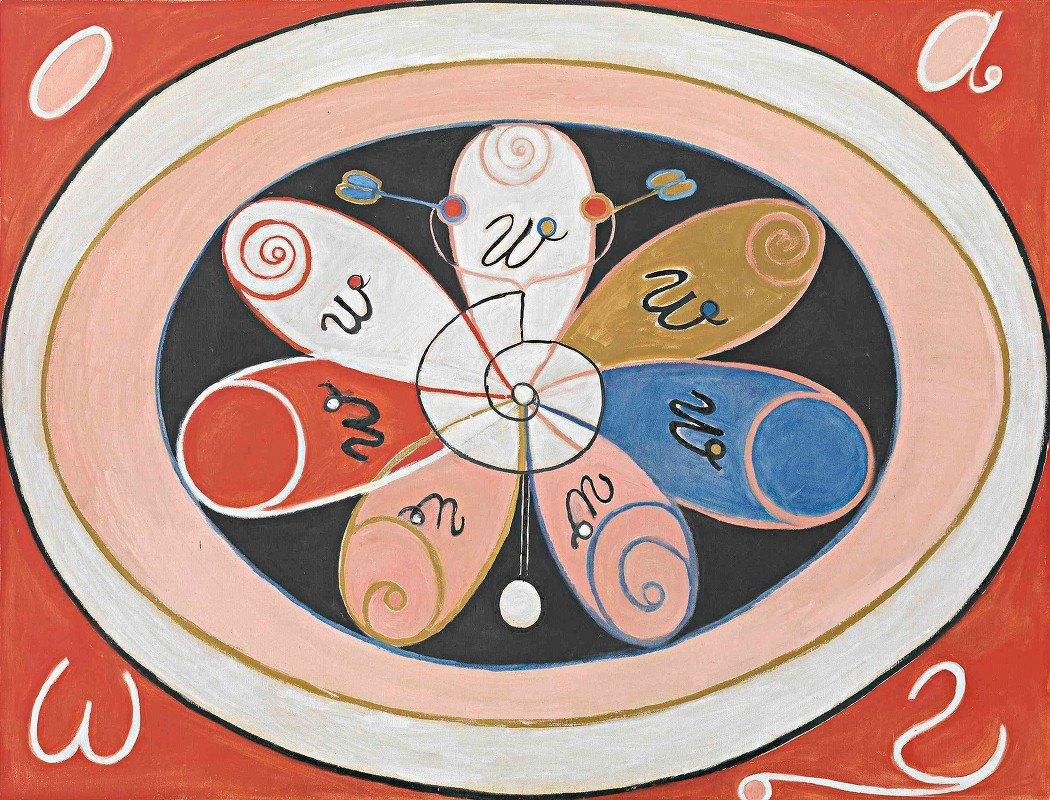 Hilma af Klint - Evolution, No. 15, Group IV, The Seven-pointed Stars