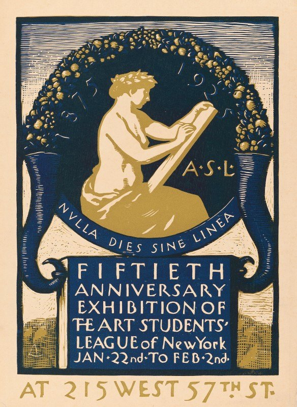 Allen Lewis - Fiftieth anniversary exhibition of the Art Students' League of New York