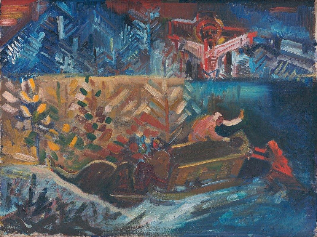 Arnold Peter Weisz-Kubínčan - Carrying the Sick